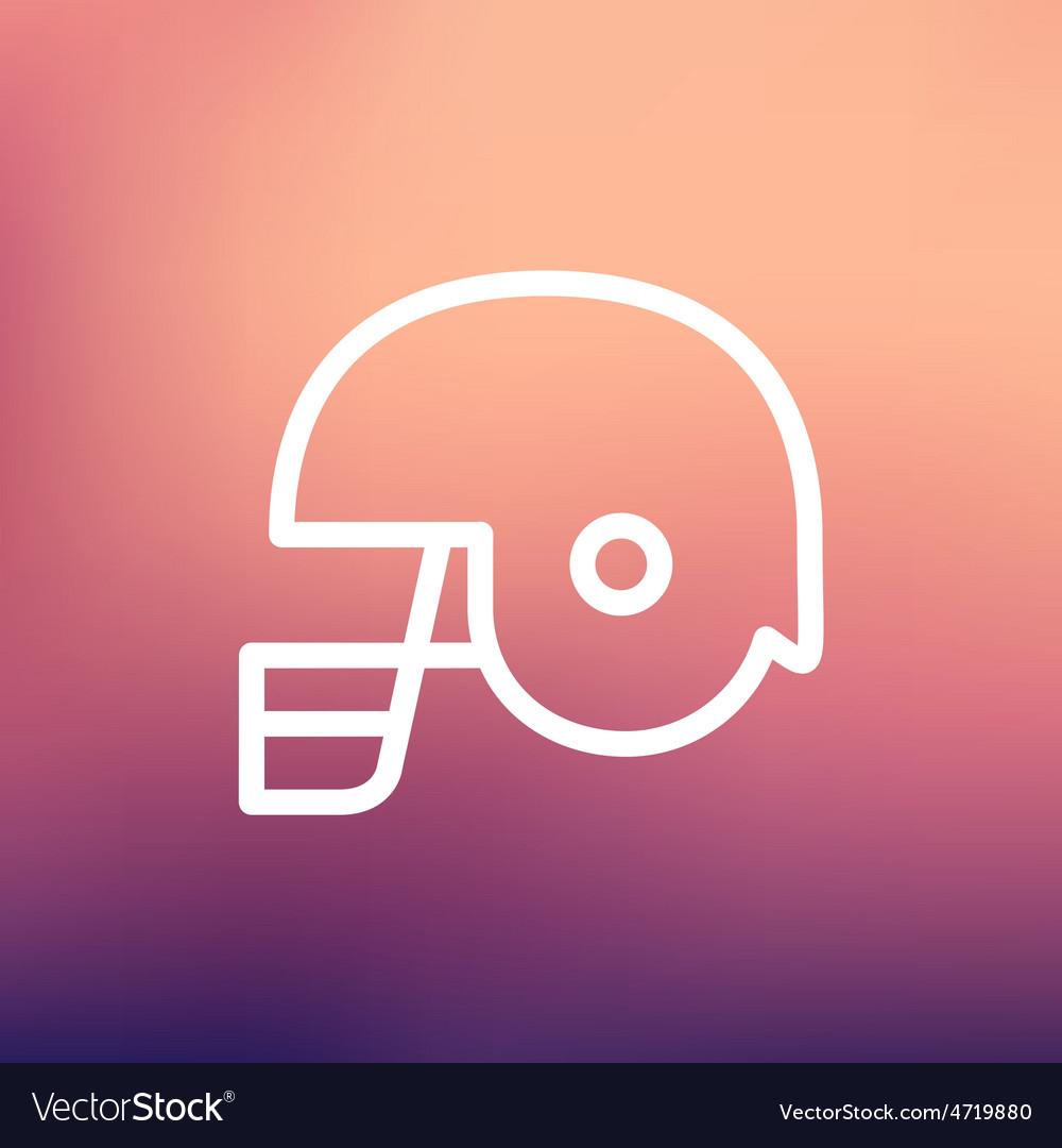 Football helmet thin lien icon vector | Price: 1 Credit (USD $1)