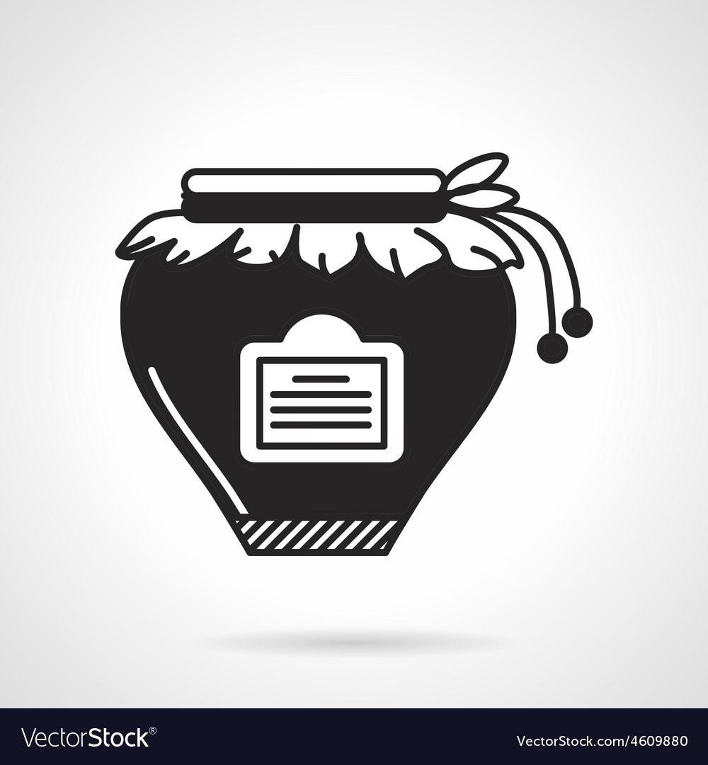 Jam jar black icon vector   Price: 1 Credit (USD $1)