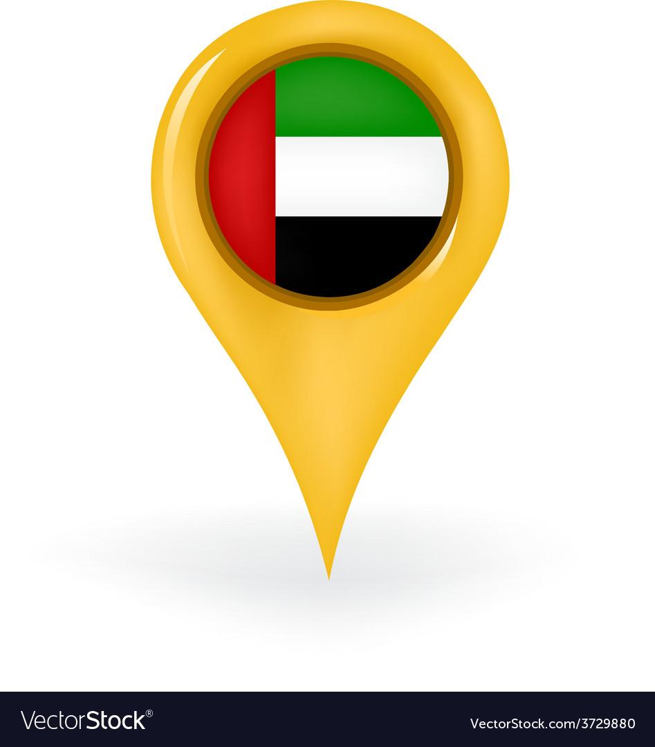 Location united arab emirates vector | Price: 1 Credit (USD $1)