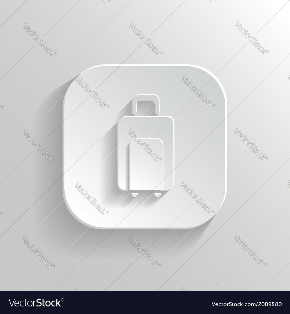Luggage icon - white app button vector | Price: 1 Credit (USD $1)