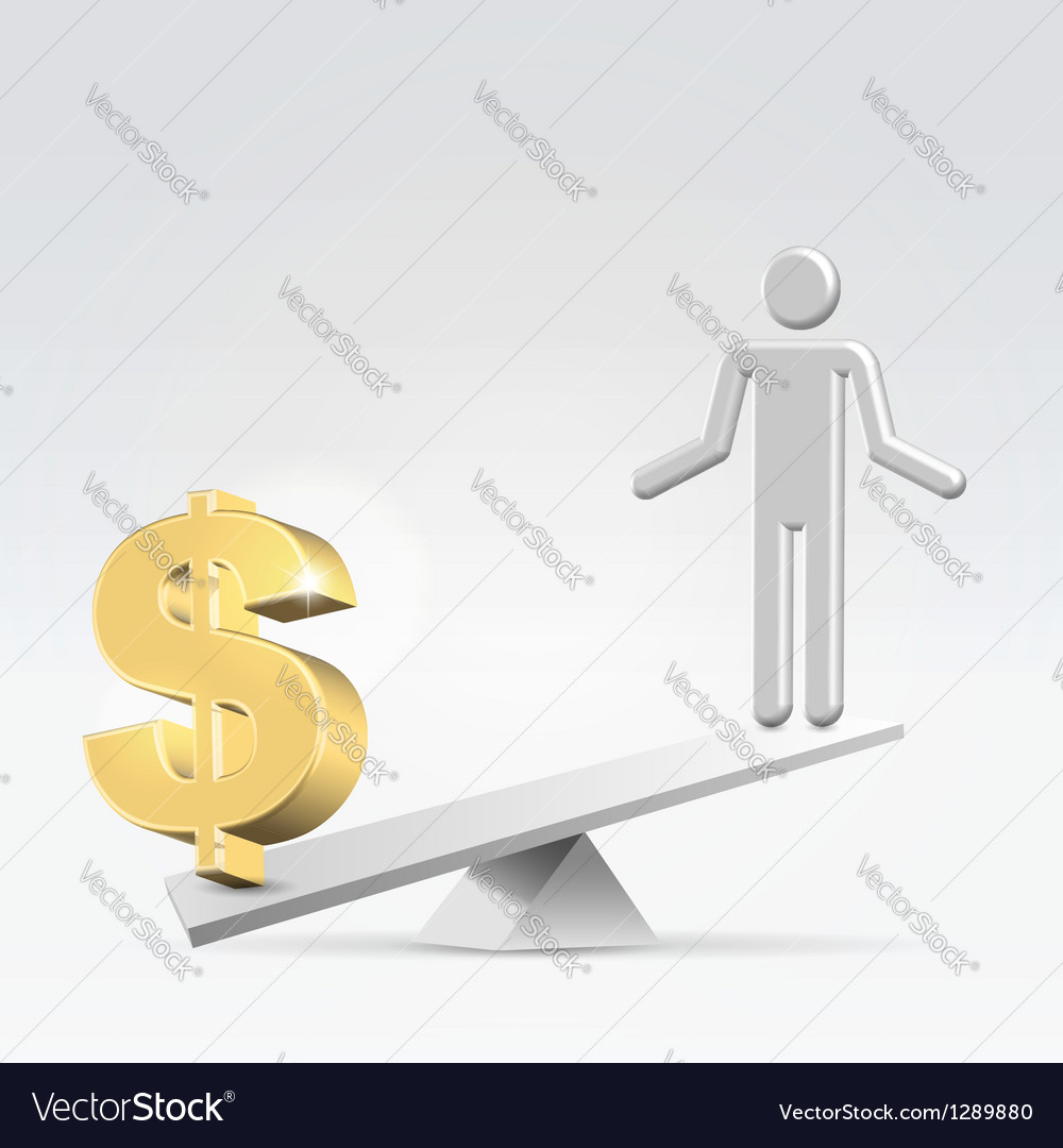 Money over staff vector | Price:  Credit (USD $)