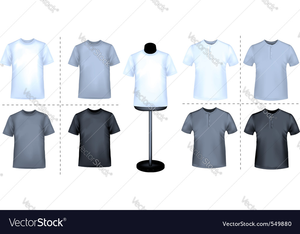 Polo shirts with mannequins vector | Price: 3 Credit (USD $3)