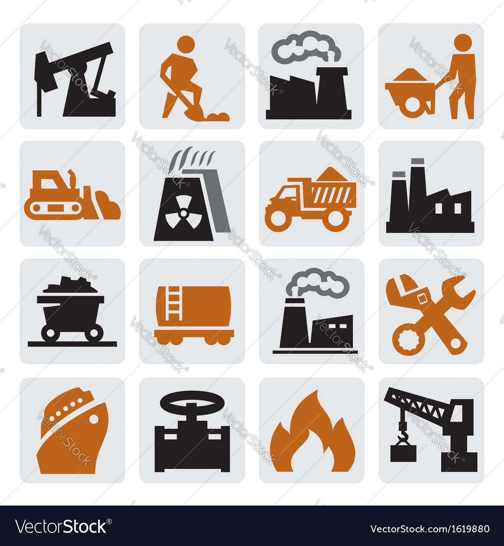 Power generation icons vector | Price: 1 Credit (USD $1)