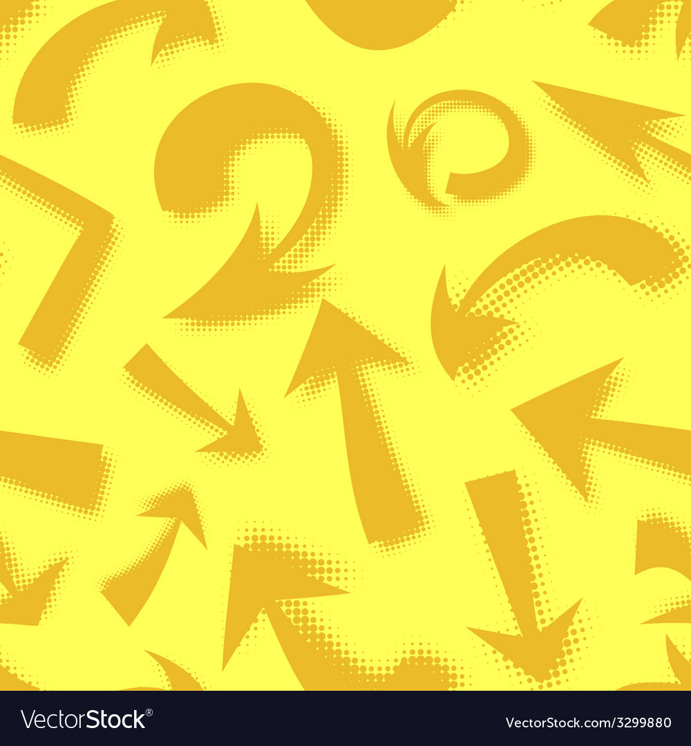 Seamless pattern of hand drawn comics arrows vector | Price: 1 Credit (USD $1)