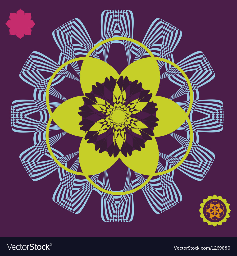 Spring meditation floral poster vector | Price: 1 Credit (USD $1)