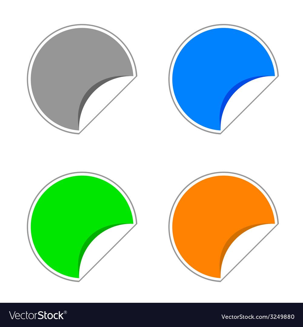 Stickers color vector | Price: 1 Credit (USD $1)