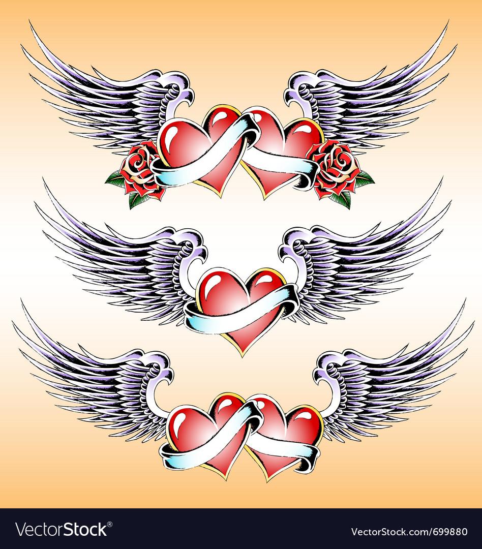 Valentine heart emblem design vector | Price: 1 Credit (USD $1)