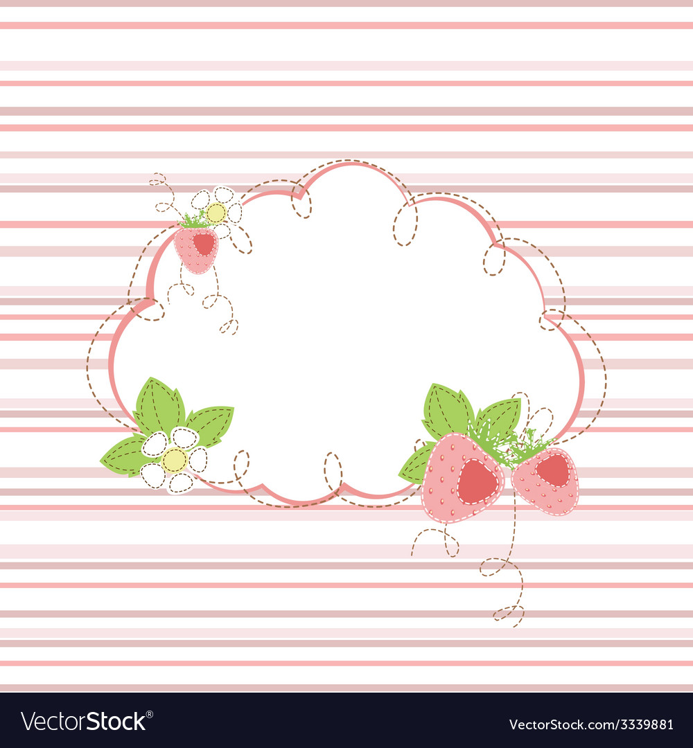 Baby shower with strawberry vector | Price: 1 Credit (USD $1)