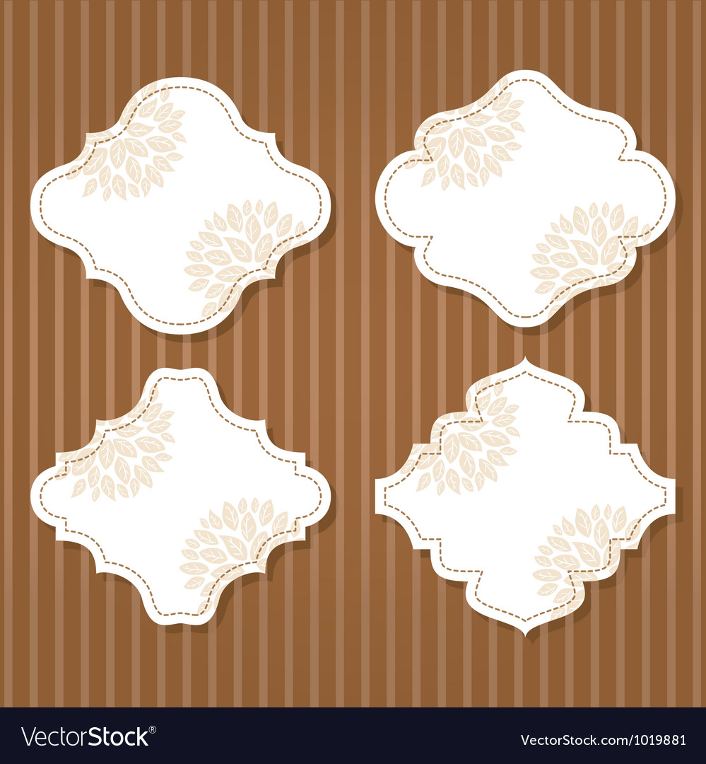 Cute vintage frame vector | Price: 1 Credit (USD $1)