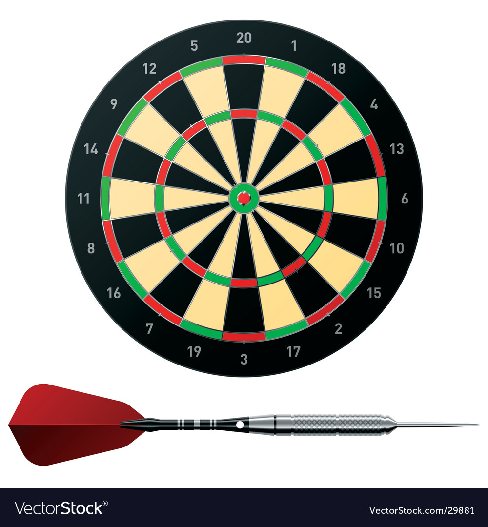 Dartboard with dart vector | Price: 3 Credit (USD $3)