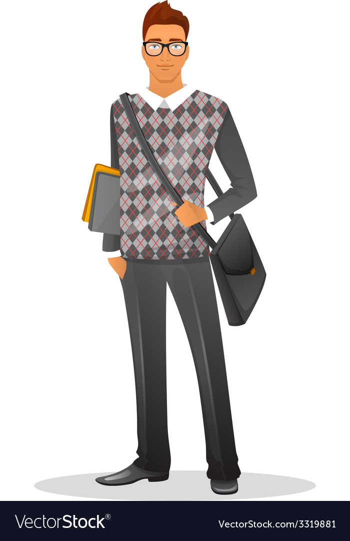 Fashion man character image vector | Price: 3 Credit (USD $3)