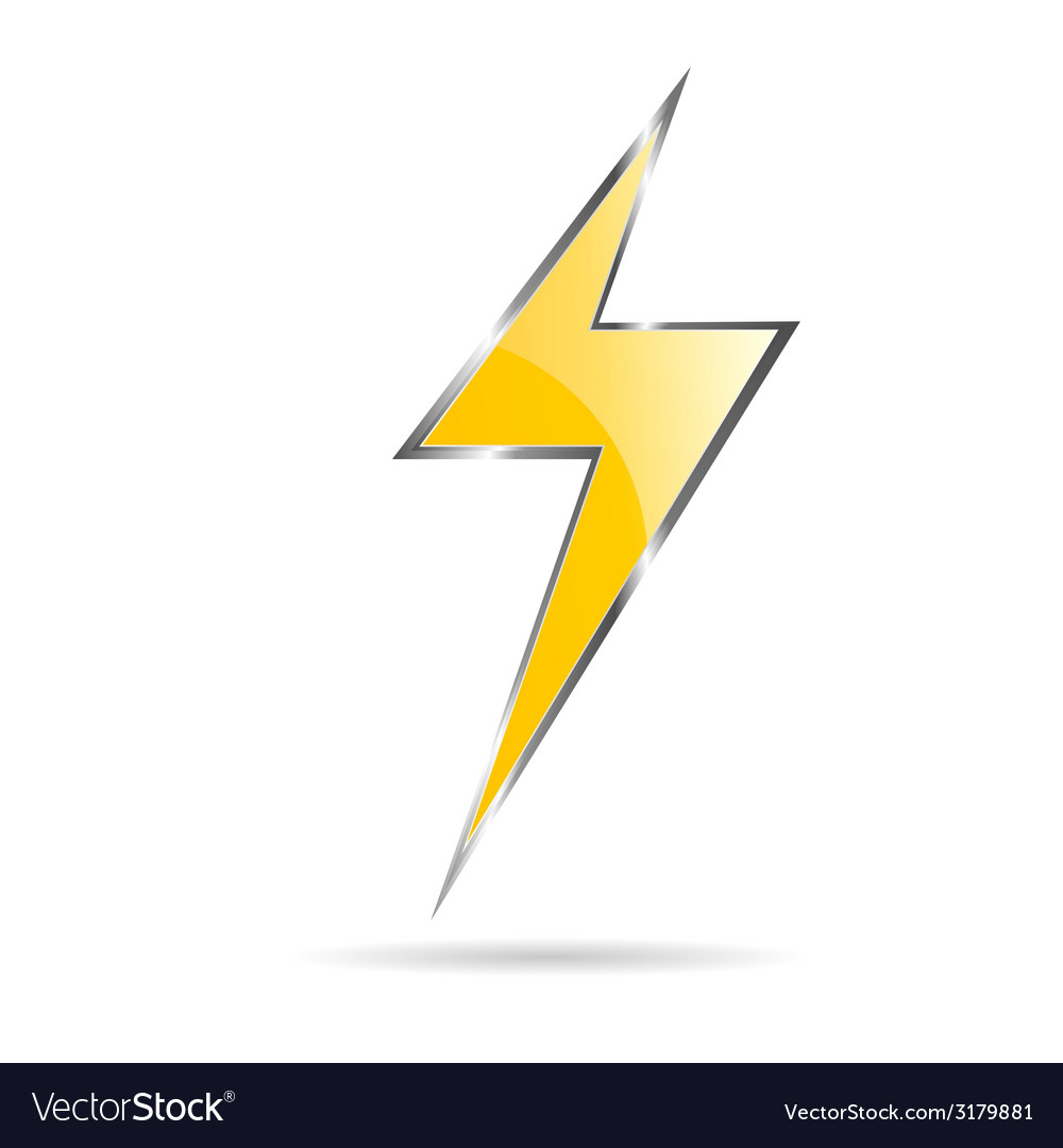 Flash sign yellow vector | Price: 1 Credit (USD $1)