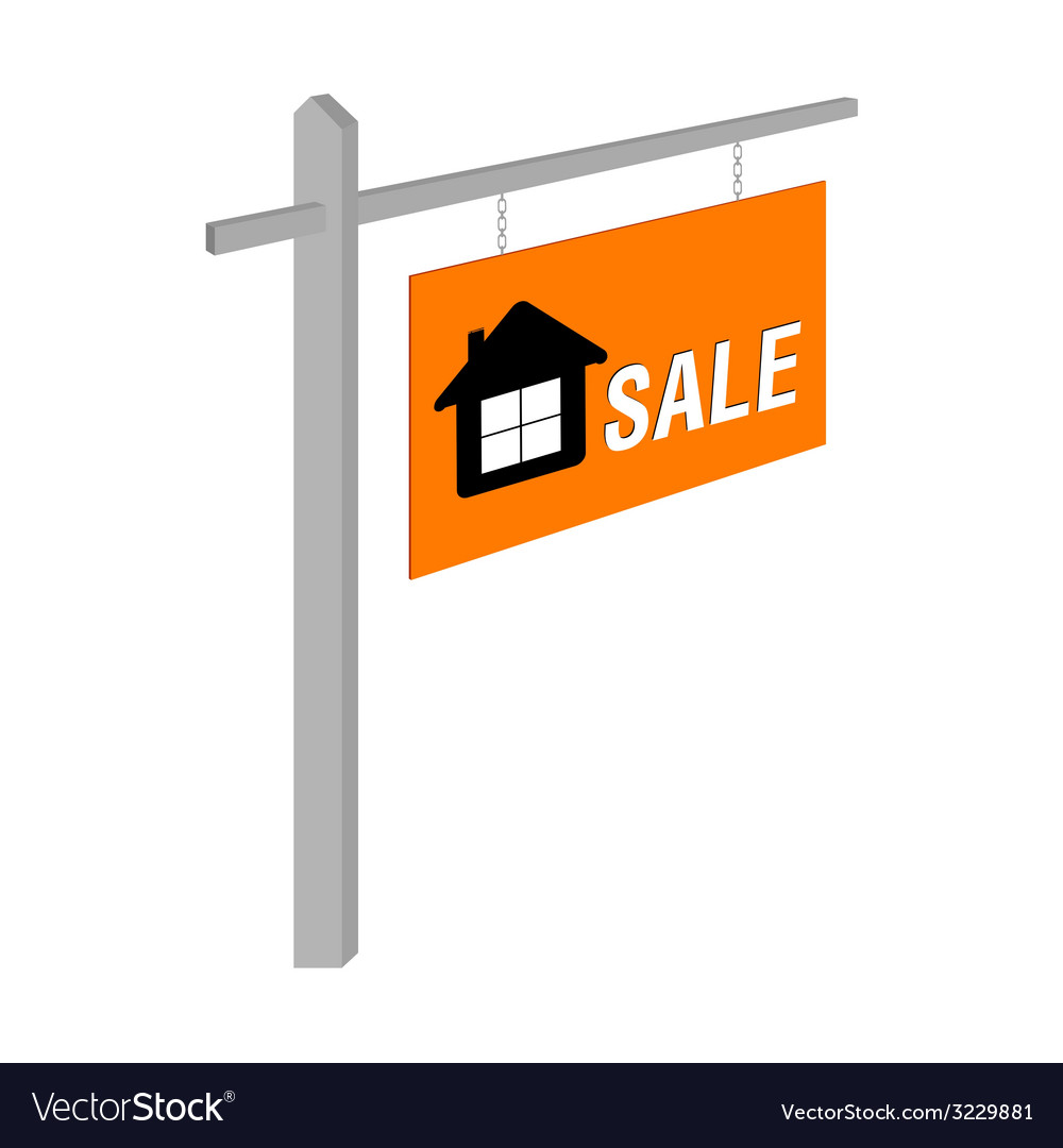 House sale on table vector | Price: 1 Credit (USD $1)