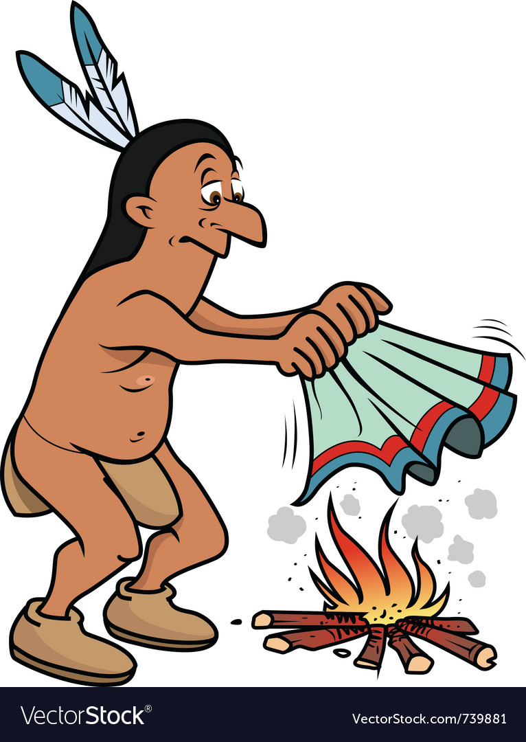 Indian smoke signals vector | Price: 3 Credit (USD $3)