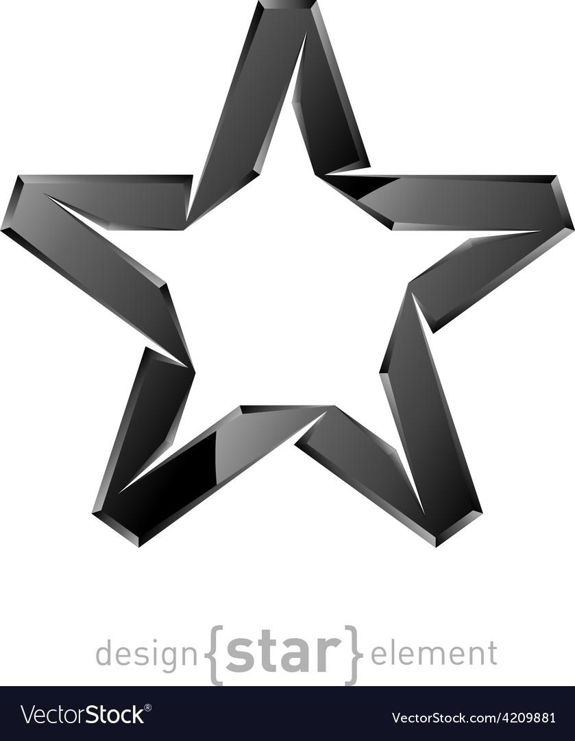Original metallic star on white background vector | Price: 1 Credit (USD $1)