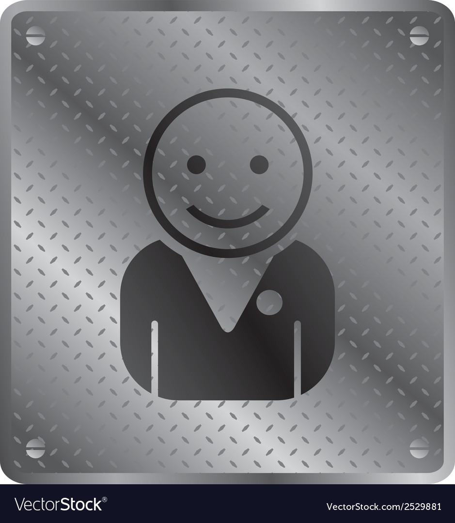 Person talking icon vector   Price: 1 Credit (USD $1)