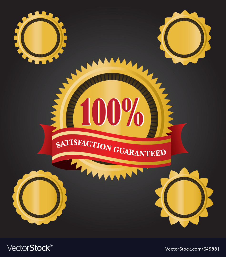 Satisfaction guaranteed icon vector | Price: 1 Credit (USD $1)