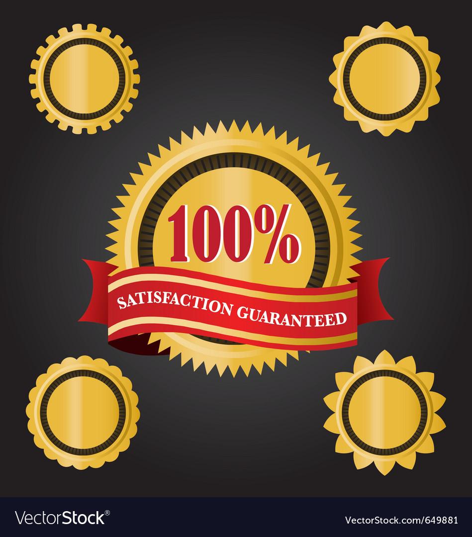Satisfaction guaranteed icon vector | Price: 1 Credit (USD $1)
