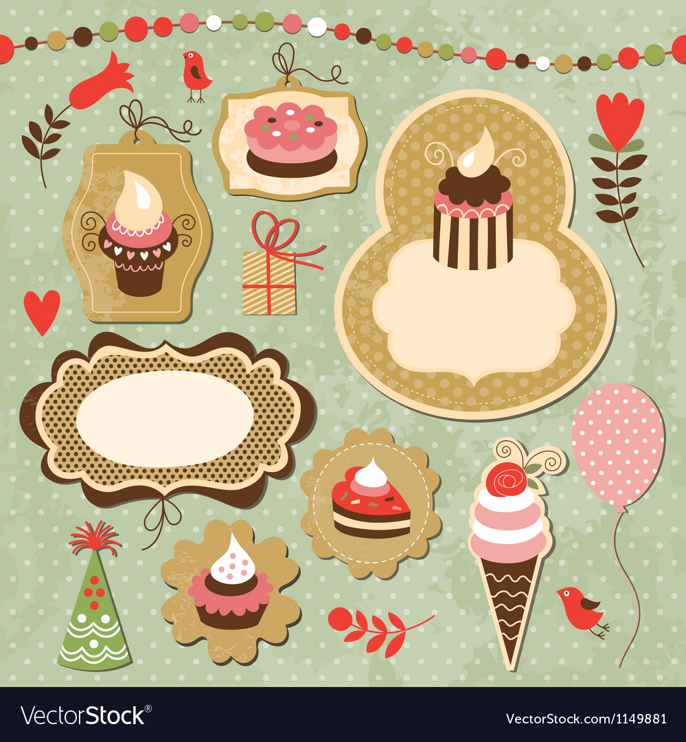 Set of holiday elements vector | Price: 1 Credit (USD $1)