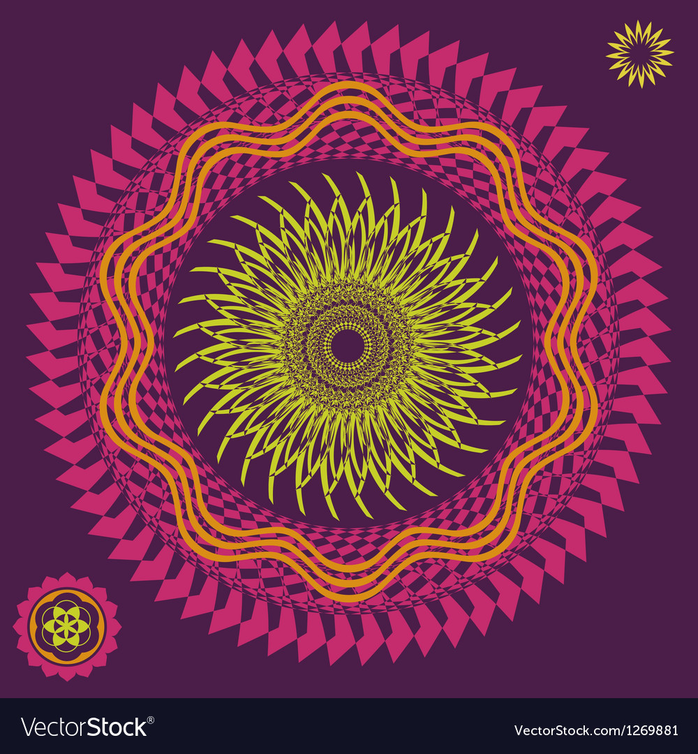 Spring meditation flower vector | Price: 1 Credit (USD $1)