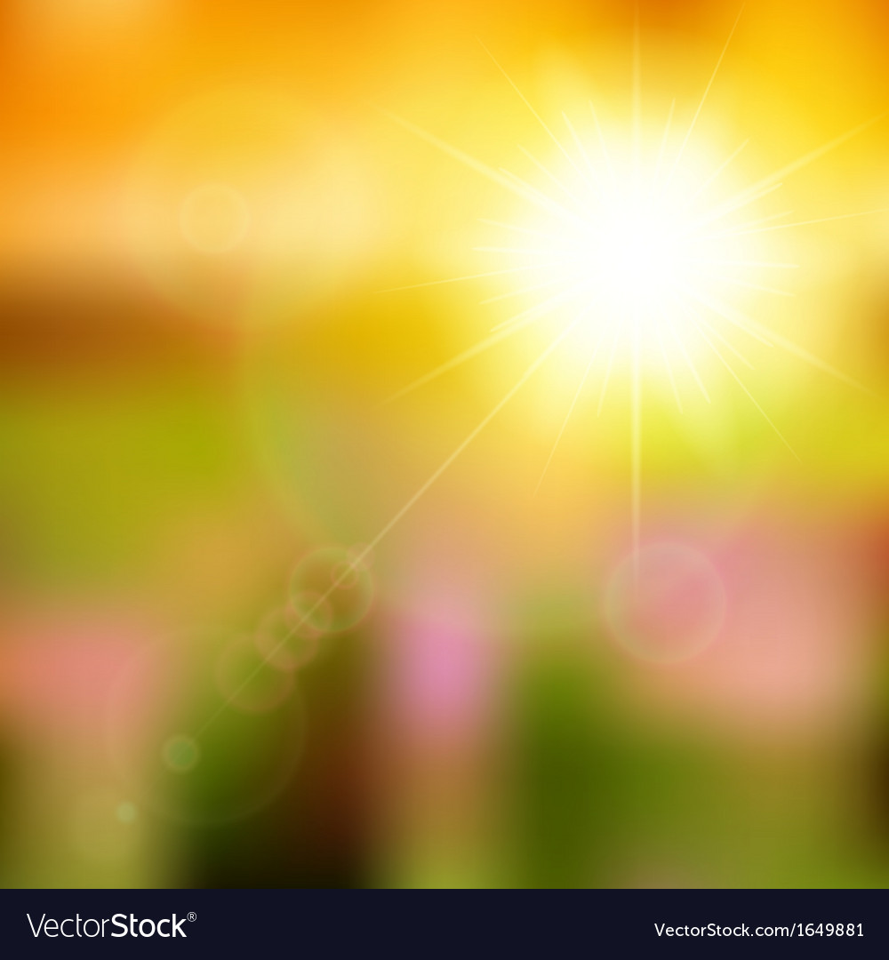 Summer background with sun burst with lens flare vector | Price: 1 Credit (USD $1)