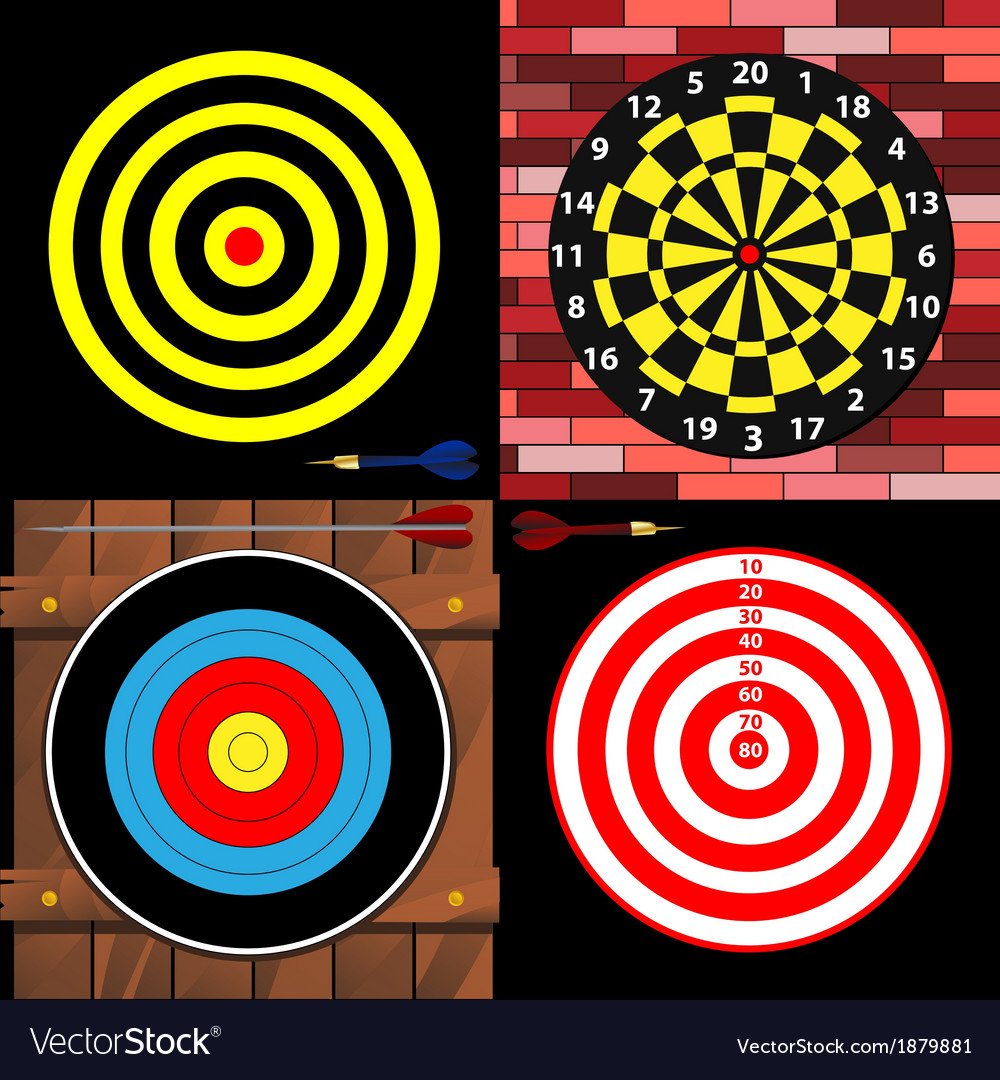 Targets vector | Price: 1 Credit (USD $1)