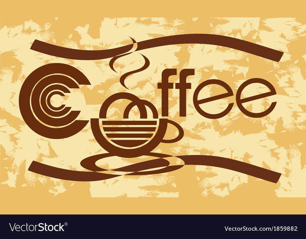 Banner with coffee vector | Price: 1 Credit (USD $1)