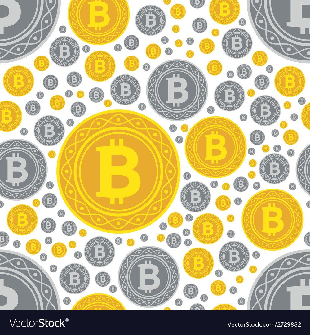 Bitcoin coins seamless pattern vector | Price: 1 Credit (USD $1)