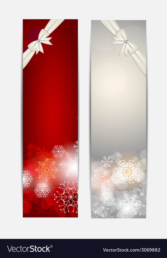Christmas snowflakes website banner and card vector   Price: 1 Credit (USD $1)