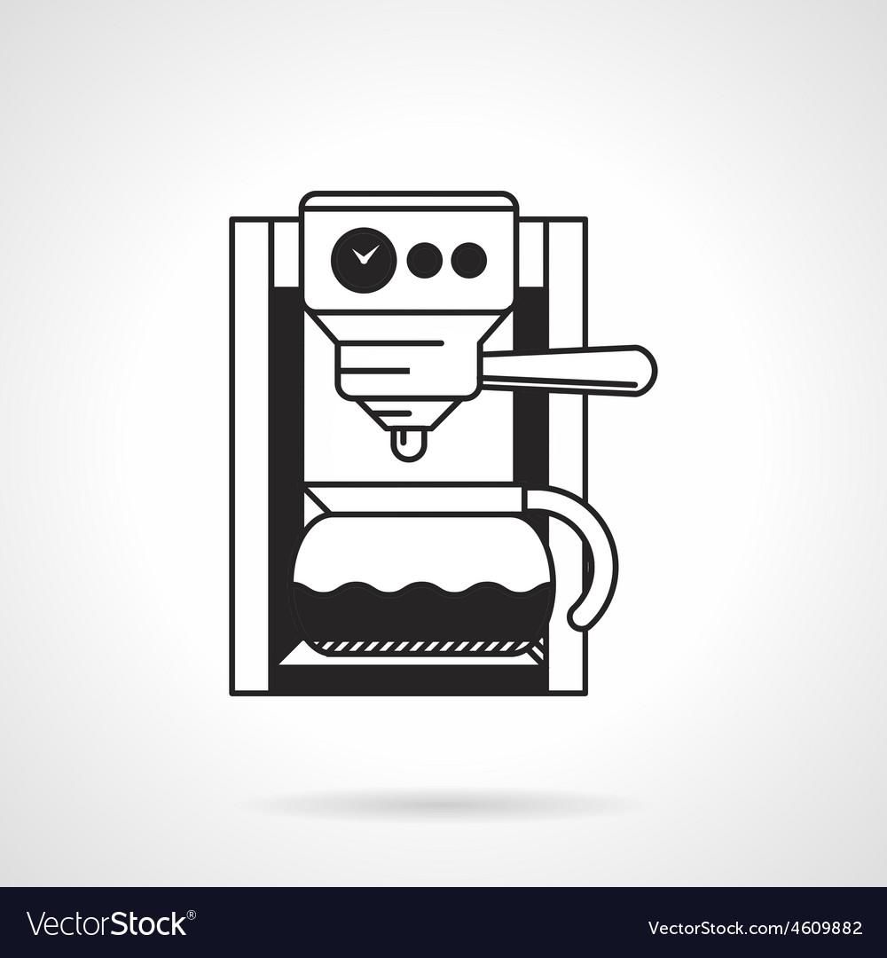 Coffee machine black icon vector   Price: 1 Credit (USD $1)