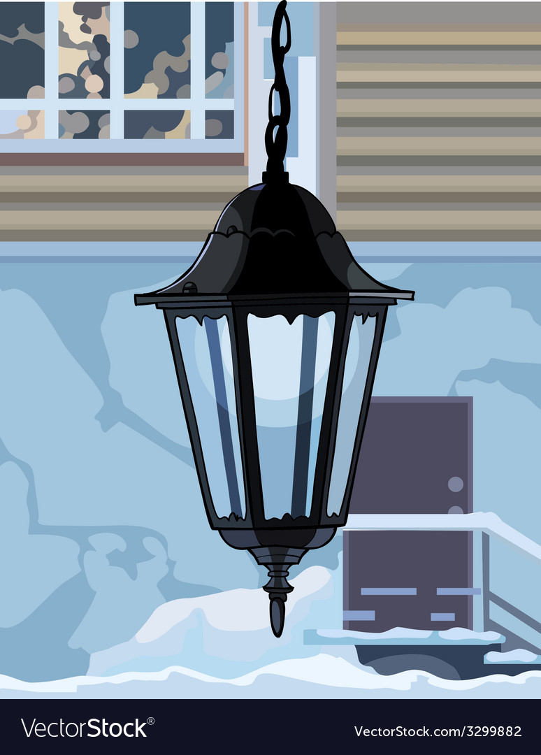 Decorative wrought iron lamp vector | Price: 1 Credit (USD $1)