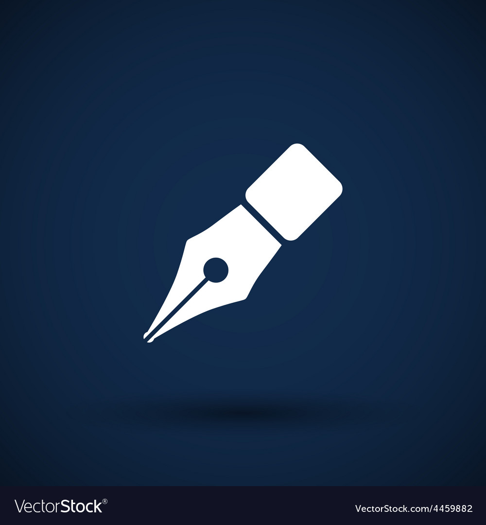 Fountain pen icon pen business write symbol vector | Price: 1 Credit (USD $1)