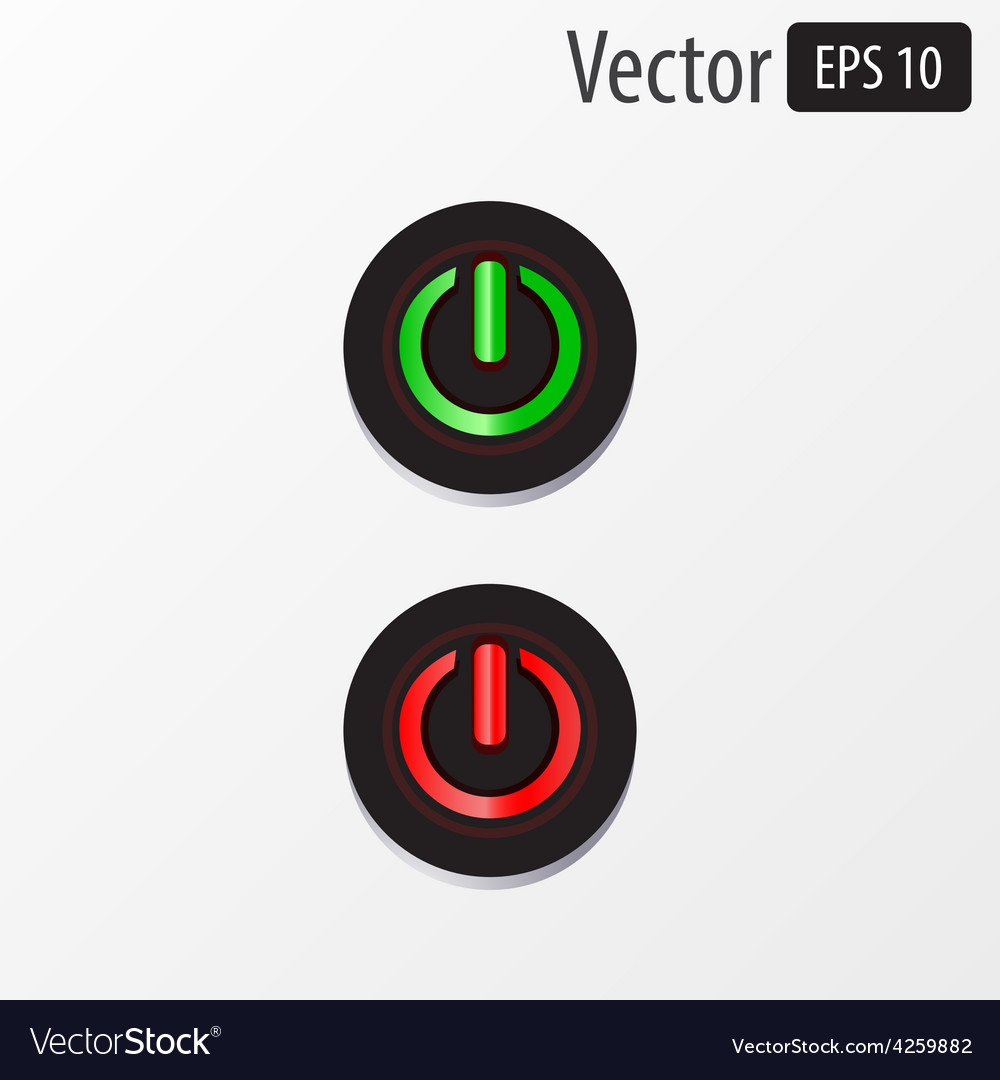 Power sphere buttons isolated vector | Price: 1 Credit (USD $1)