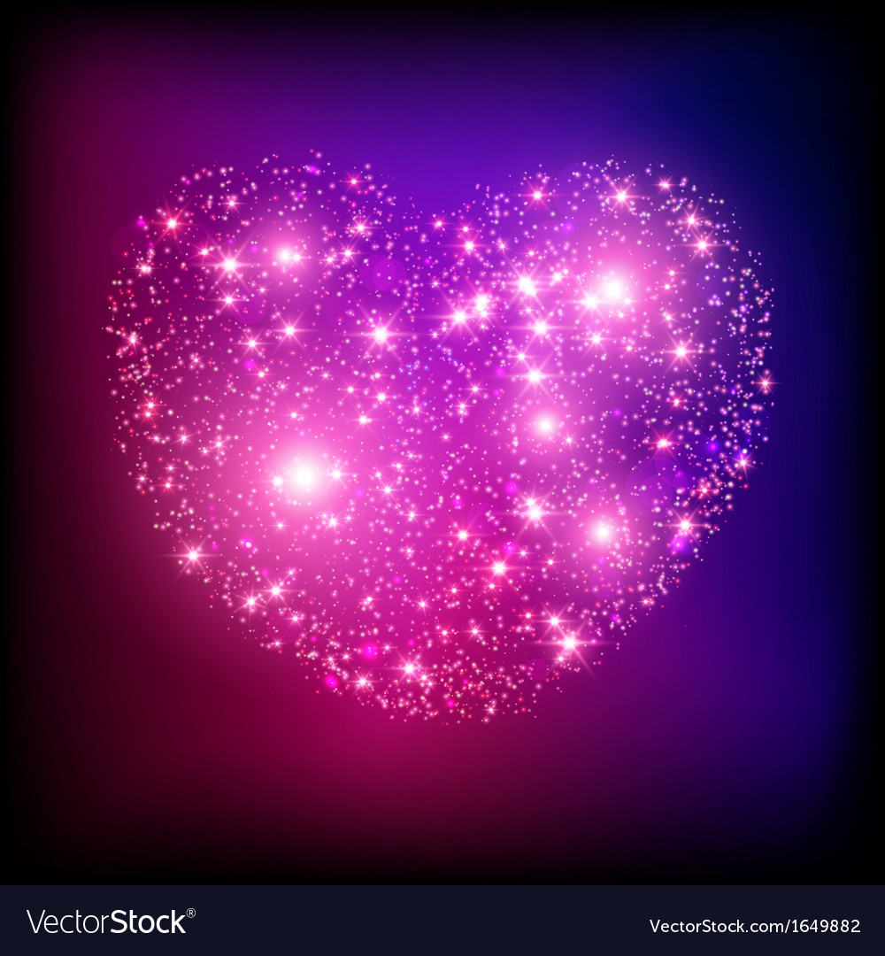 Sparkle bright pink heart vector | Price: 1 Credit (USD $1)