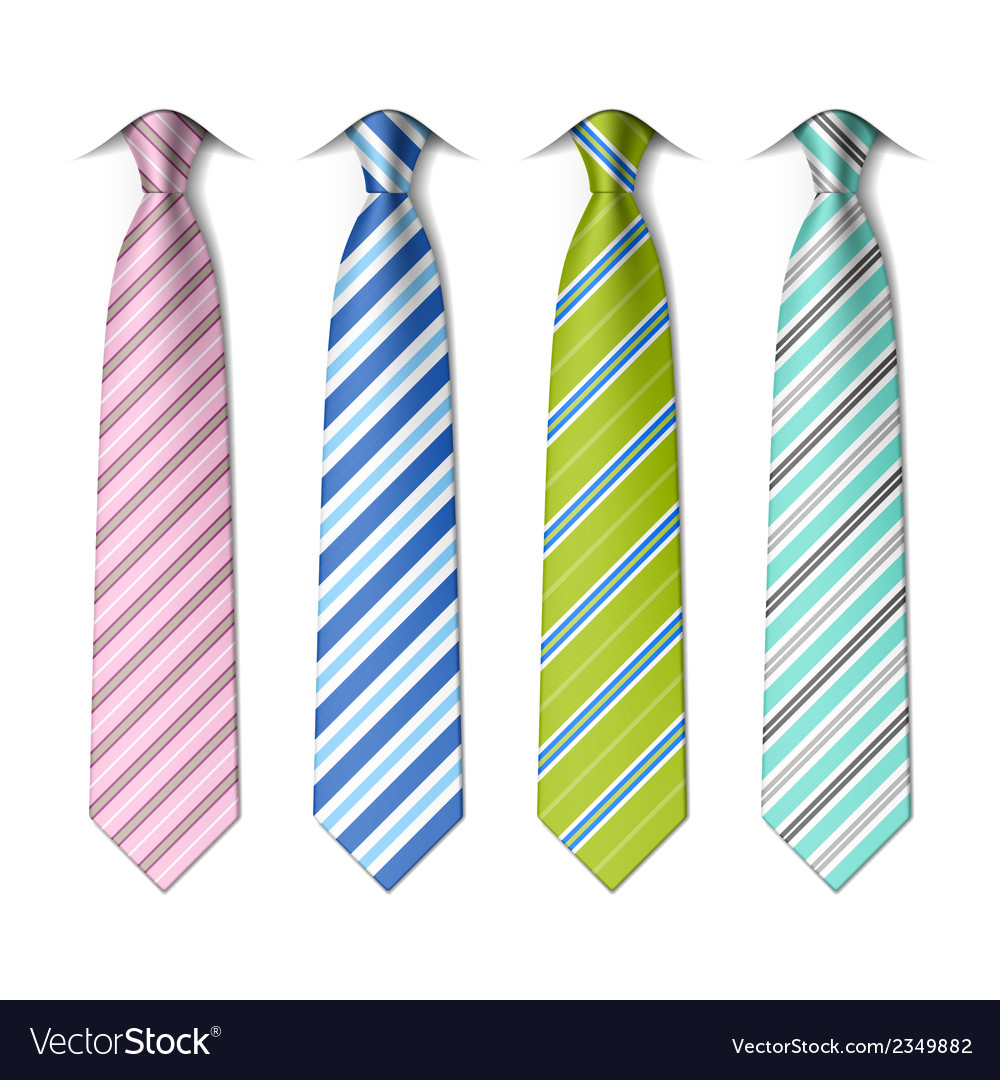 Striped silk ties vector | Price: 1 Credit (USD $1)