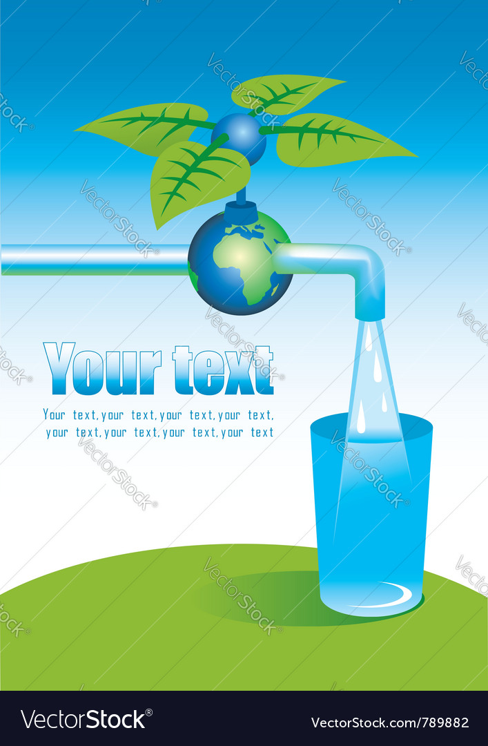 Tap with clean water vector | Price: 1 Credit (USD $1)