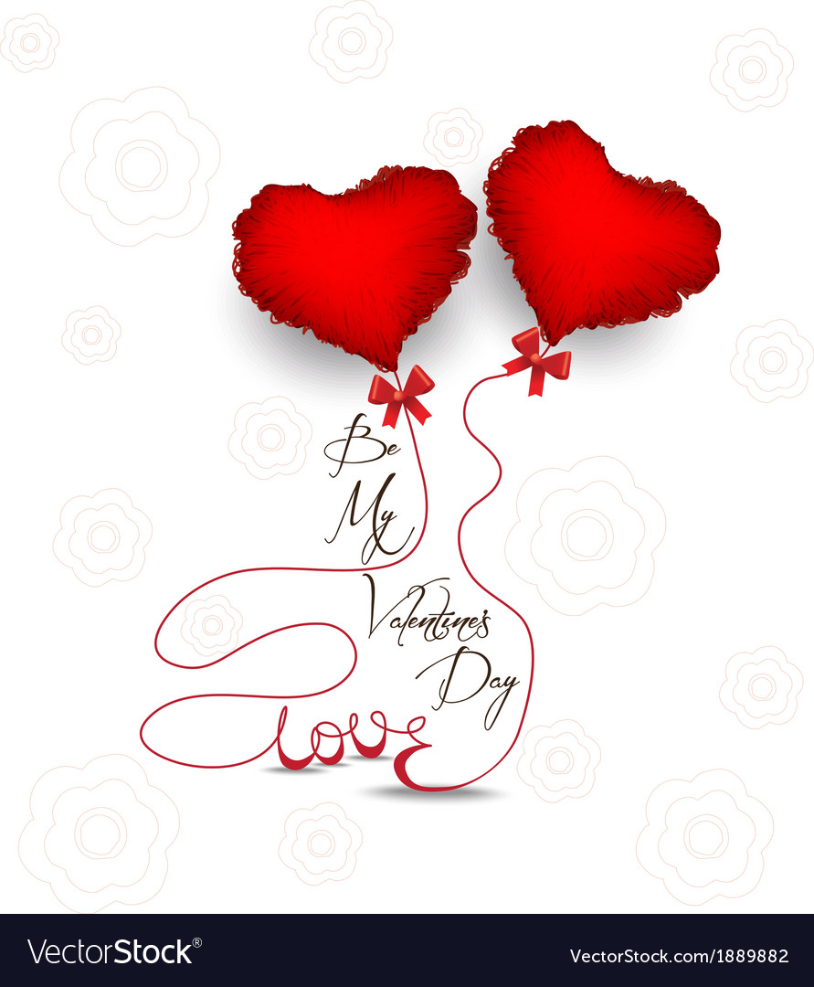 Valentines day with heart symbol vector | Price: 1 Credit (USD $1)