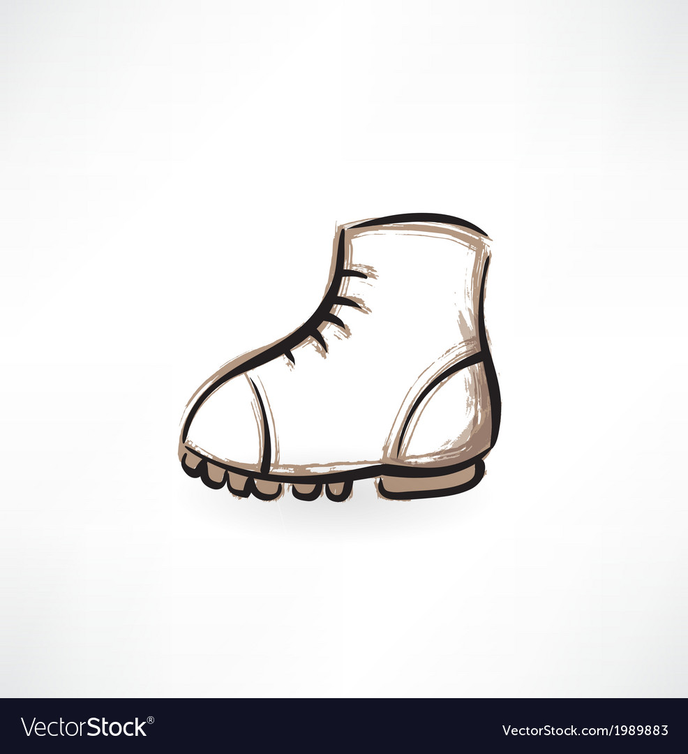 Boot grunge icon vector | Price: 1 Credit (USD $1)