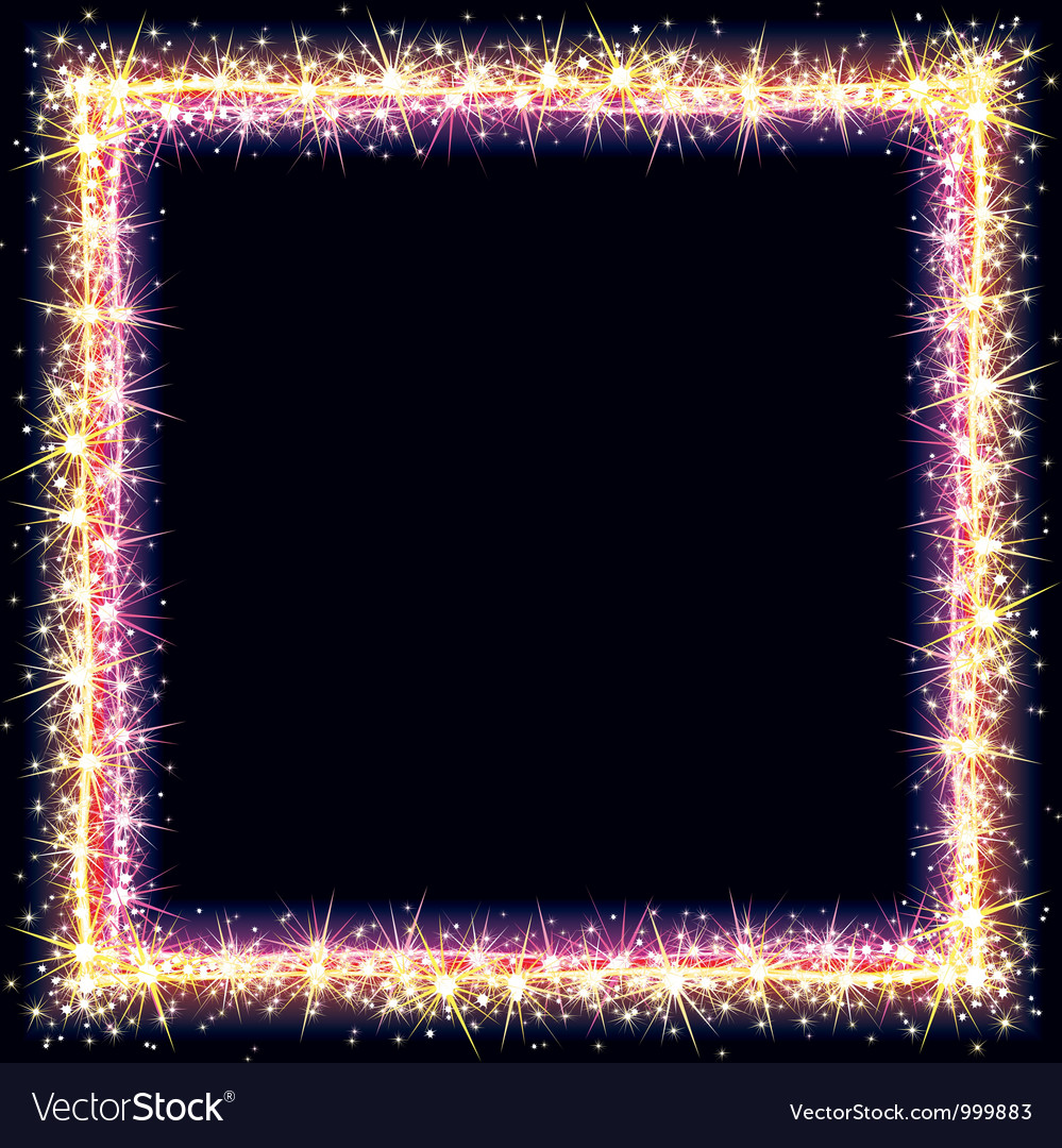 Bright frame with sparkles and flares vector   Price: 1 Credit (USD $1)