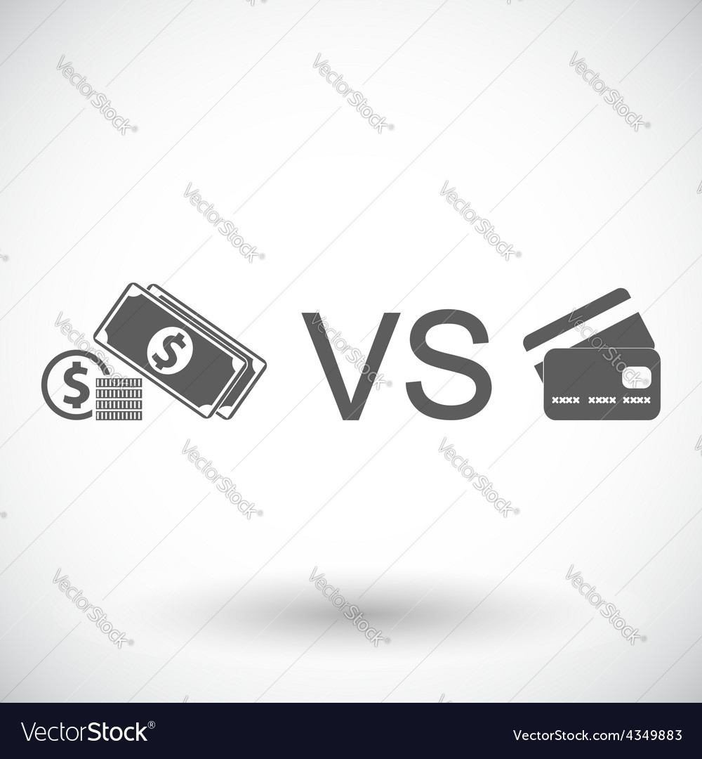 Cash vs card vector | Price: 1 Credit (USD $1)