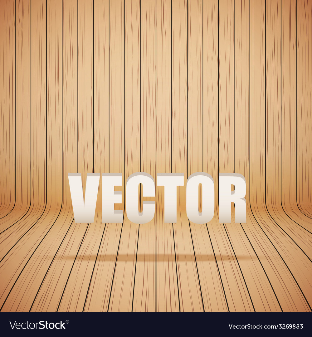 Curved wooden background interior vector | Price: 1 Credit (USD $1)