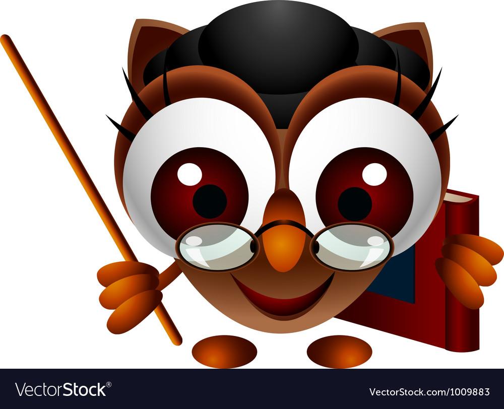 Cute owl presenting vector | Price: 3 Credit (USD $3)