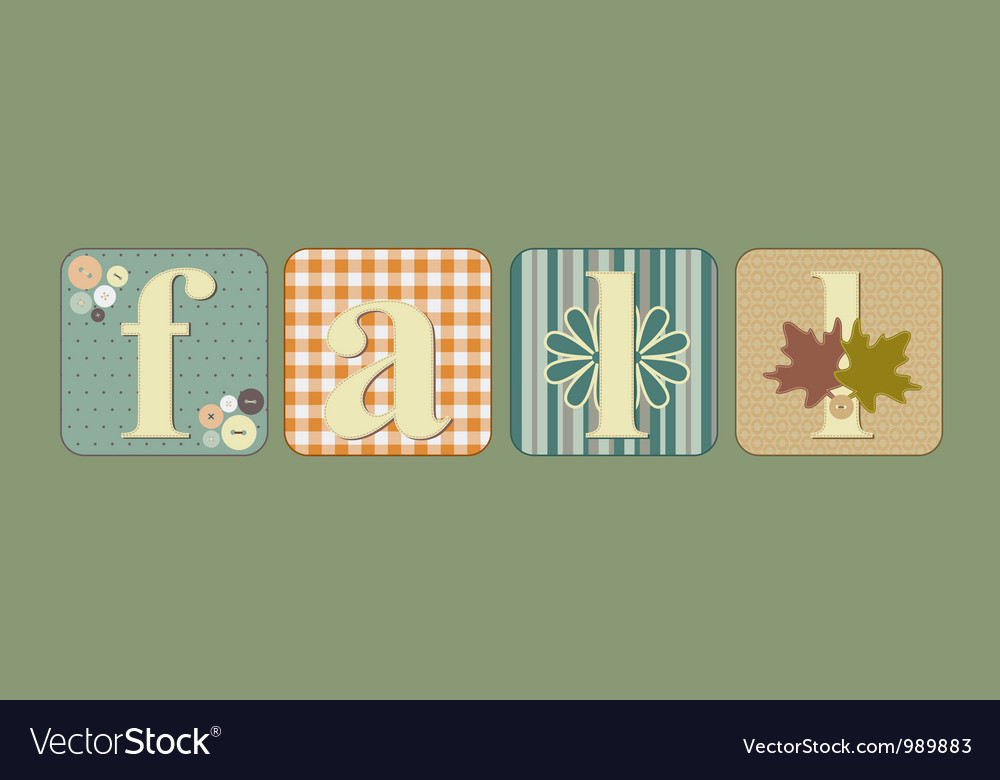Fall lettering vector | Price: 1 Credit (USD $1)
