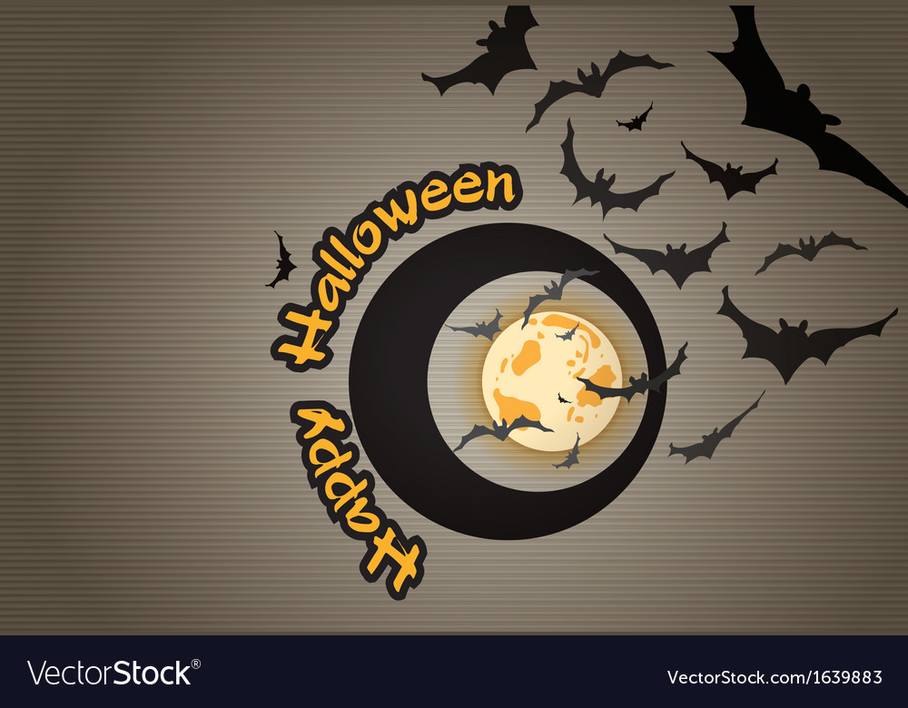 Halloween background with bats vector | Price: 1 Credit (USD $1)