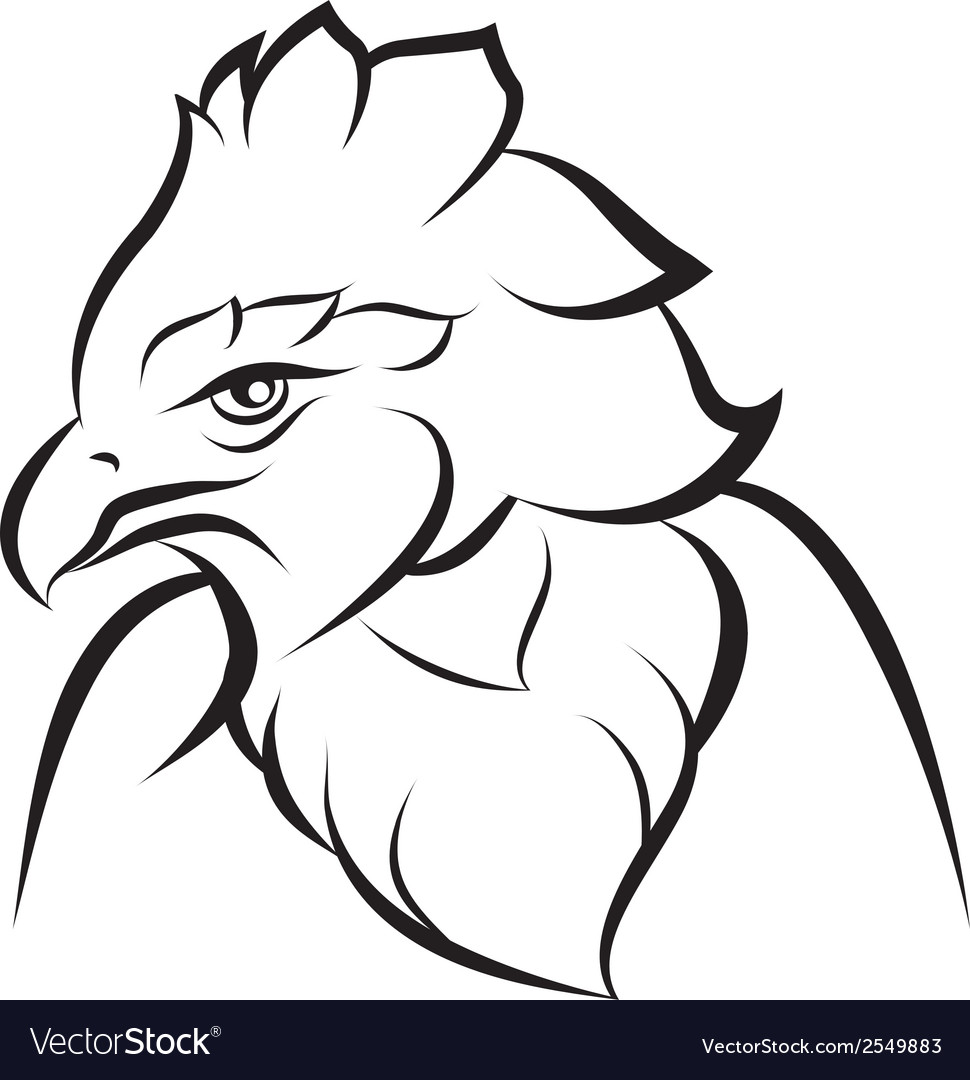 Line art of crown eagle vector | Price: 1 Credit (USD $1)