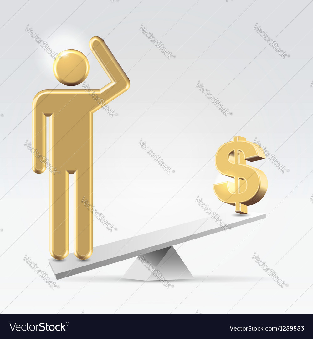 People over money vector | Price: 1 Credit (USD $1)
