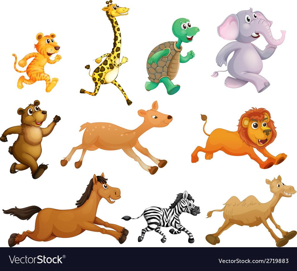 Running animals vector | Price: 1 Credit (USD $1)