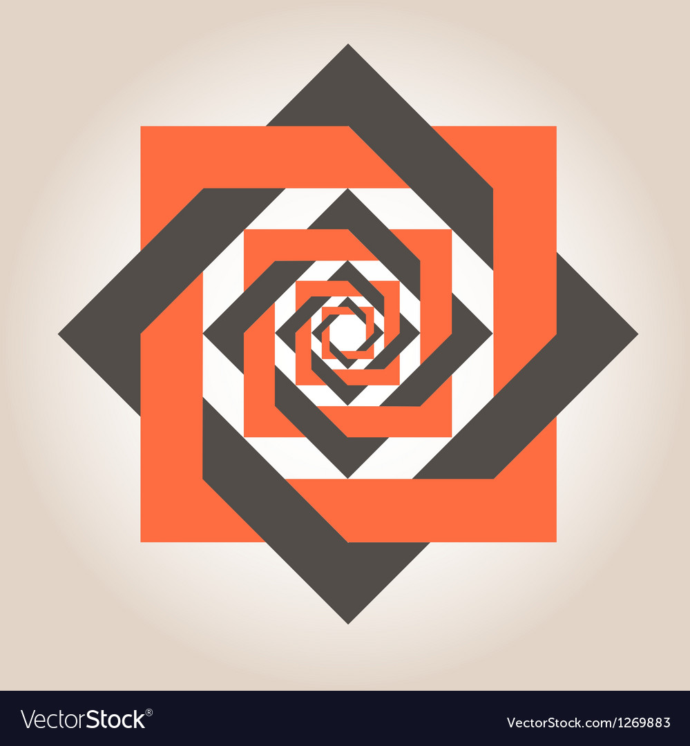 Square in a square geometrical design vector | Price: 1 Credit (USD $1)