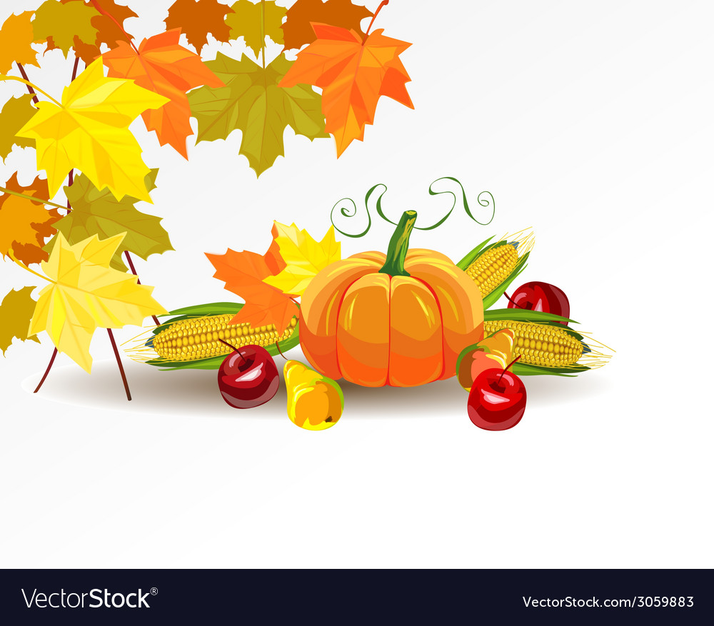 Thanksgiving celebration banner vector | Price: 1 Credit (USD $1)