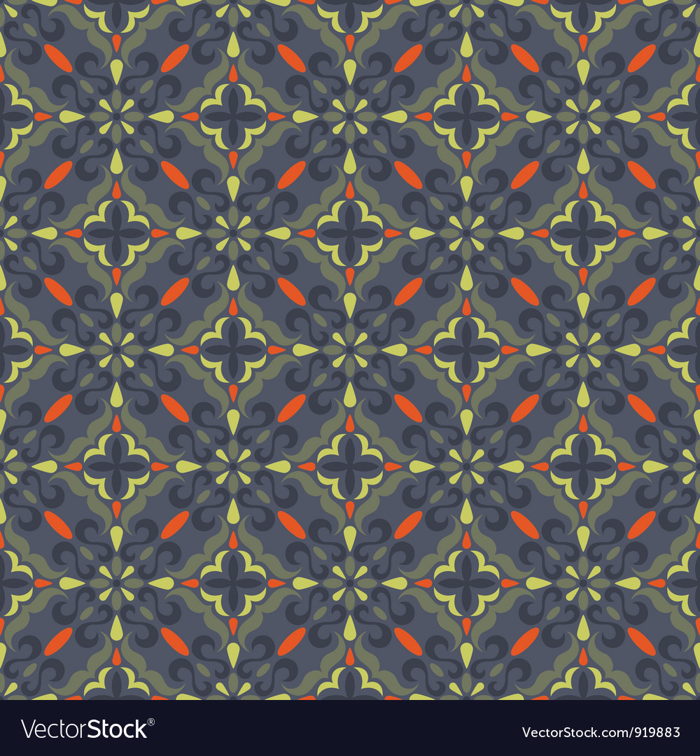 Traditional seamless pattern vector | Price: 1 Credit (USD $1)